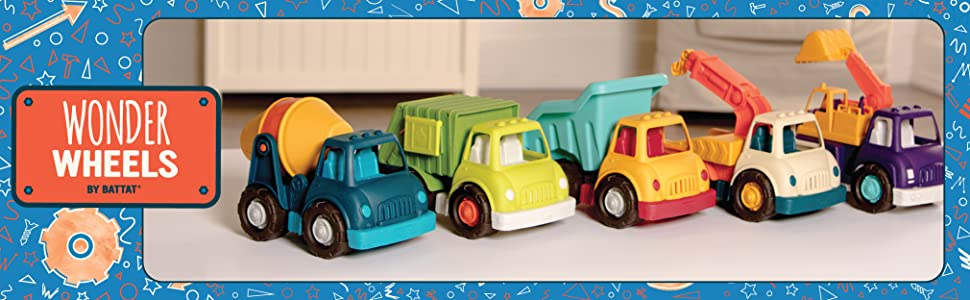 Toy trucks for kids, construction, fisher price, Little people cars, Green Toys, toddler vehicle