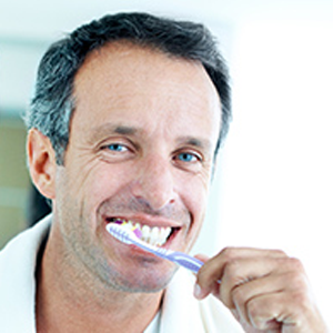 parodontax brushing teeth