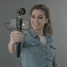 shure mv88+ mv88plus motiv vlogger vlogging video kit filmmaker podcaster podcasting mic microphone