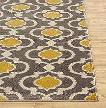 Amazon Com Moroccan Trellis Contemporary Gray Yellow 2 X