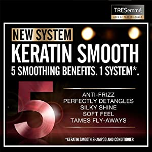 TRESemmé - New System, Keratin Smooth, 5 Smoothing Benefits