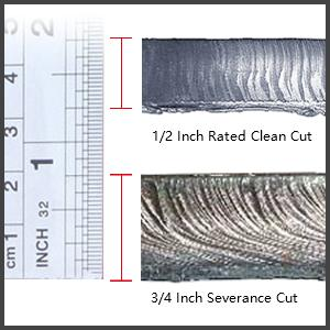 cut thinckness 1/2 inch clean cut