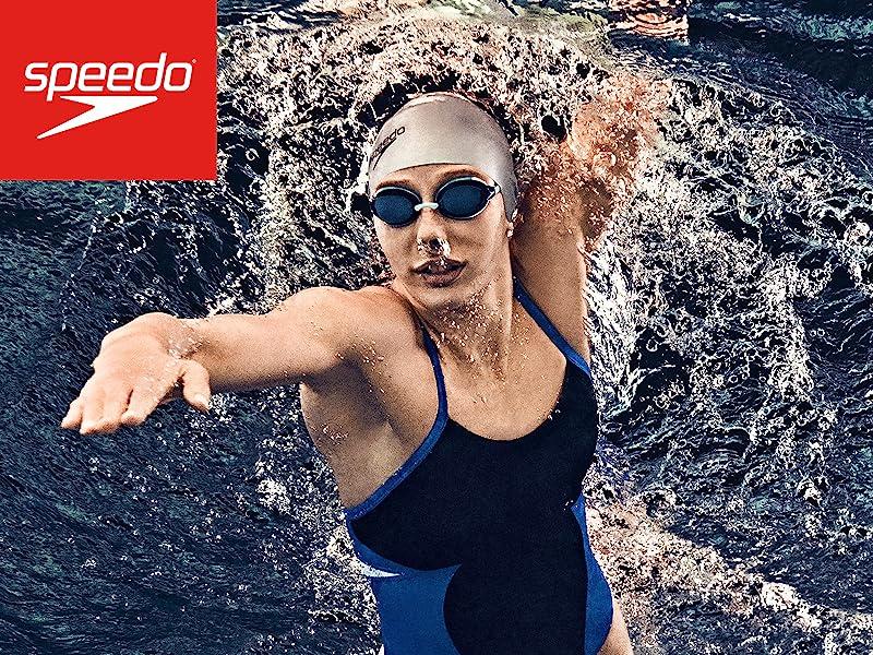 e9c85cdac3e Amazon.com   Speedo Silicone Long Hair Swim Cap
