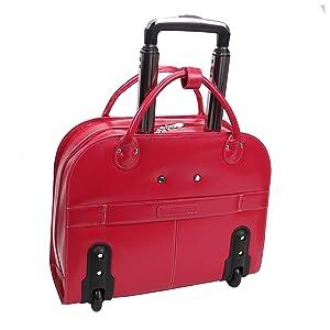 spacious leather bag