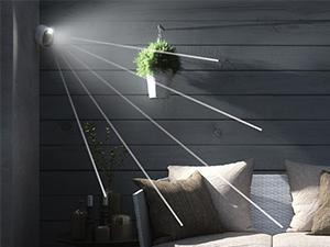 Arlo, ultra, integrated, spotlight, light, night, motion