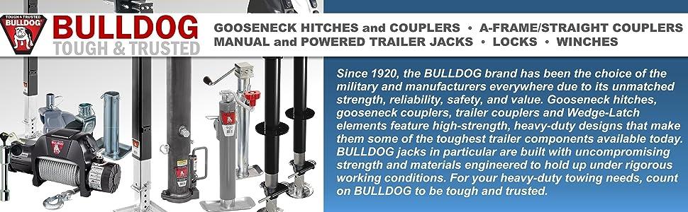 Bulldog Gooseneck Hitch Coupler Trailer Jack Lock Winch Towing Heavy Duty
