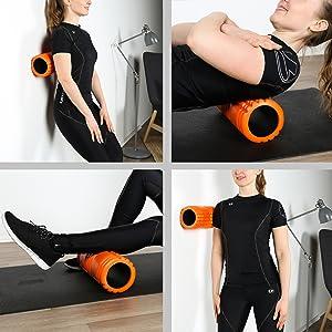 Ultrasport Faszienrolle f/ür die Massage von Triggerpunkten orange ergonomischer Foam Roller mit Massagestruktur