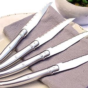 Amazon.com: Francés Home Laguiole cuchillos de carne de ...