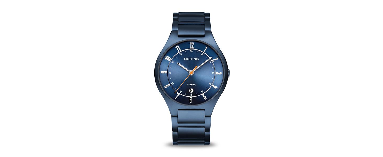 Bering men's watch sapphire crystal watch slim unisex Behring Skagen Titanium stainless steel quartz