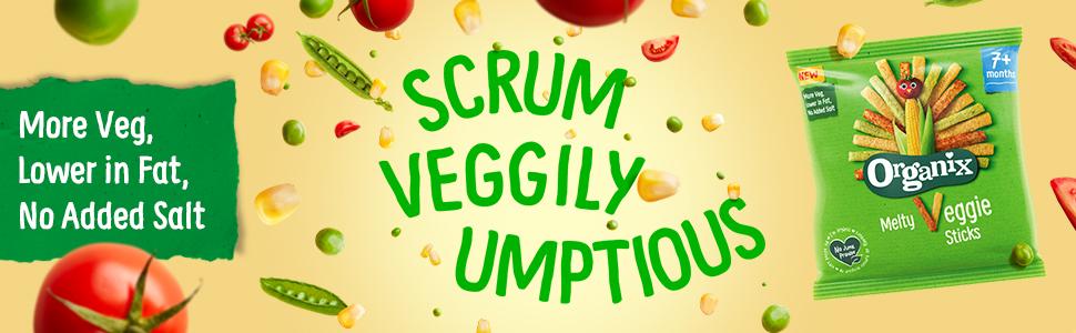 Organix, Organic, Baby Snacks, Toddler Snacks, Fingerfood, Weaning, Veggie Sticks, Veggie Straws