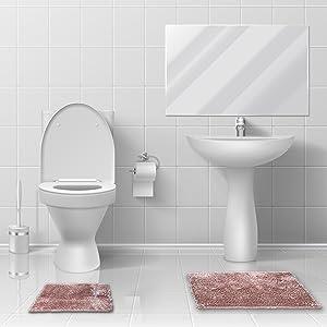 best bath rugs; teal bathroom rugs; washable bathroom rugs; luxury bath mats; 2 piece bathroom rug