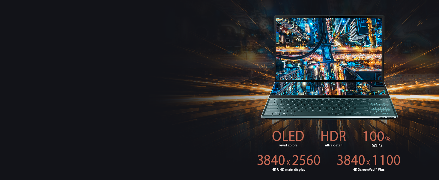 4K UHD OLED, 4 Way NanoEdge Display