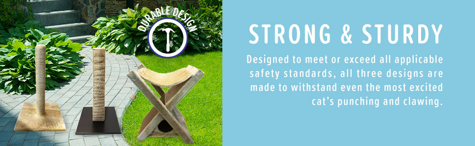Designed to meet or exceed all applicable safety standards, all three designs are made to withstand