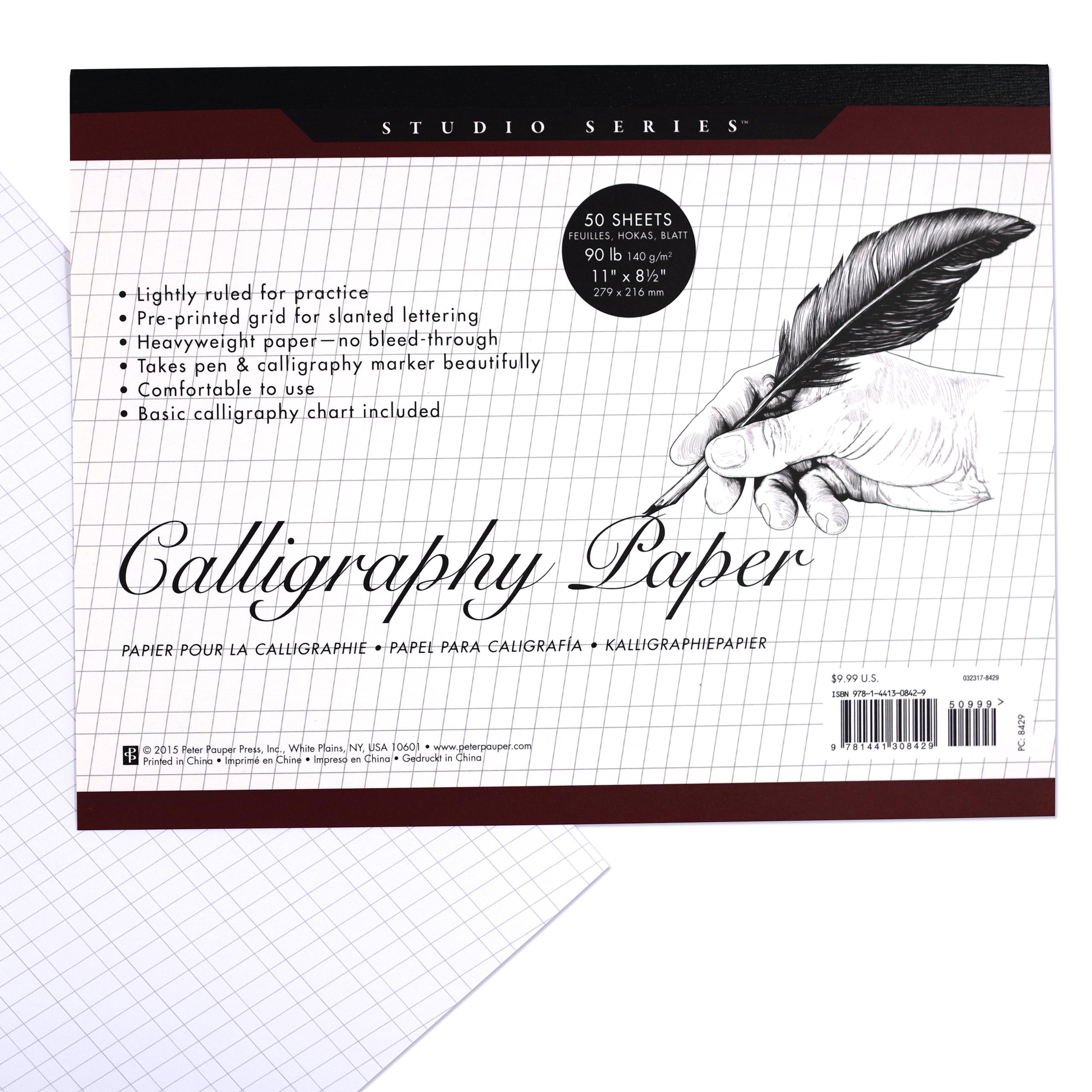 studio series calligraphy paper pad set of 50 heavyweight sheets