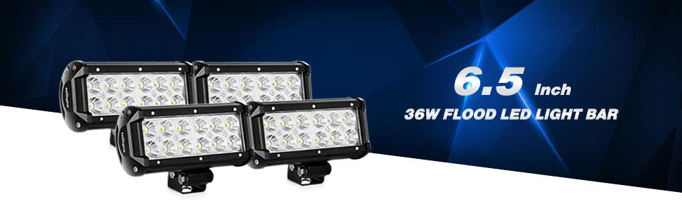 090153be 4a1c 4bee 8a03 6f112294c854._SR970300_ amazon com nilight led light bar 4pcs 6 5inch 36w flood led work  at aneh.co
