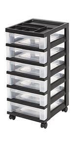 Amazon Com Iris 7 Drawer Rolling Storage Cart With