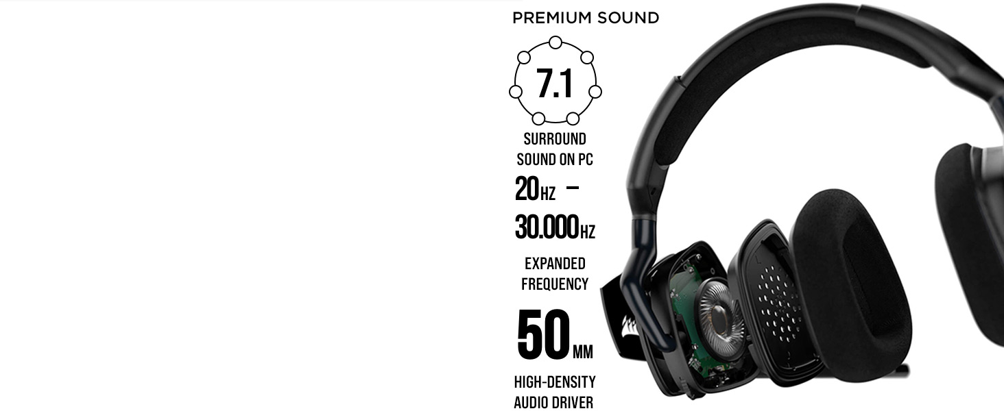 VOID RGB ELITE Wireless Premium Gaming Headset مع 7.1 الصوت المحيطي