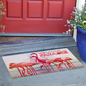 outdoor;flamingo paradise;doormat