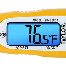 Taylor Thermometers 9848EFDA Digital Thermometer Dual-Scale Long-Stem