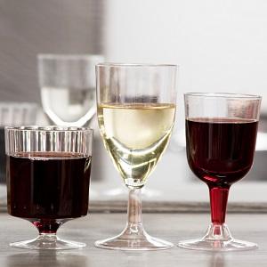 plastic wine glasses;disposable