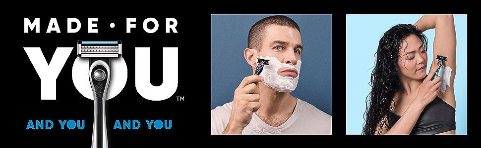 made for you razor for men, razor for women, razor system for everybody