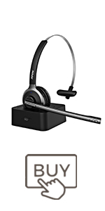 Mpow M5 Pro Bluetooth Headset with Charging Base
