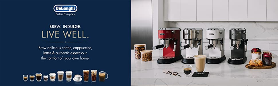 DeLonghi America, Inc EC685M Dedica Deluxe espresso, Silver