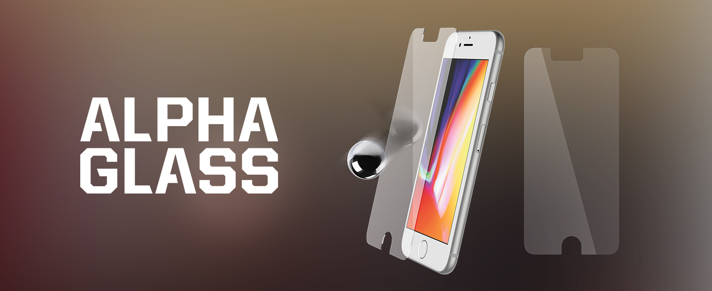 pretty nice 6d3c2 63af8 OtterBox ALPHA GLASS SERIES Screen Protector for iPhone 6/6s/7/8 (NOT Plus)  - Retail Packaging - CLEAR