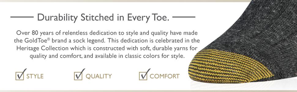 gold toe socks, durability, style, quality, socks, mens socks, dress socks, comfort, classic, legend