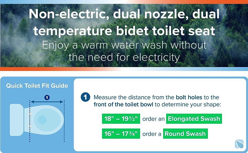 Best Bidet Toilet Seat 2021 Brondell Swash Non Electric Bidet Toilet Seat, Dual Temperature