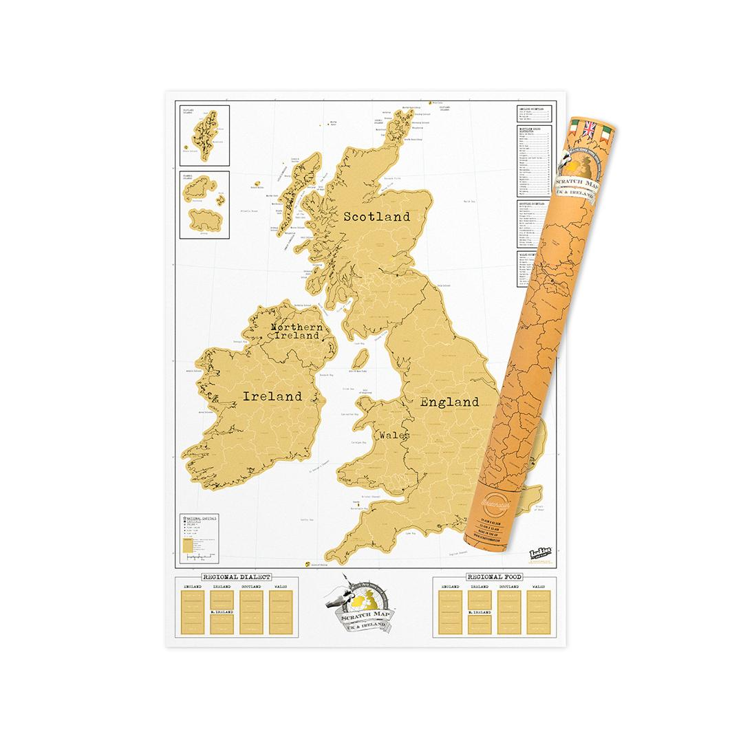 World Map Of England.Uk Scratch Map England Scotland Ireland Scratch Off Map Unique