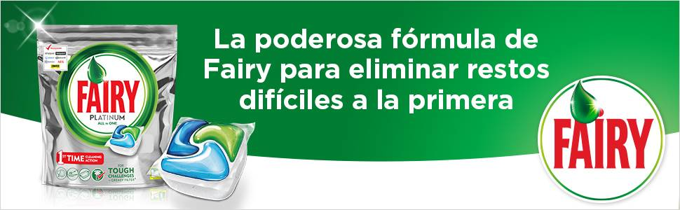 Fairy Platinum Cápsulas de Lavavajillas - 3 packs x 63 unidades