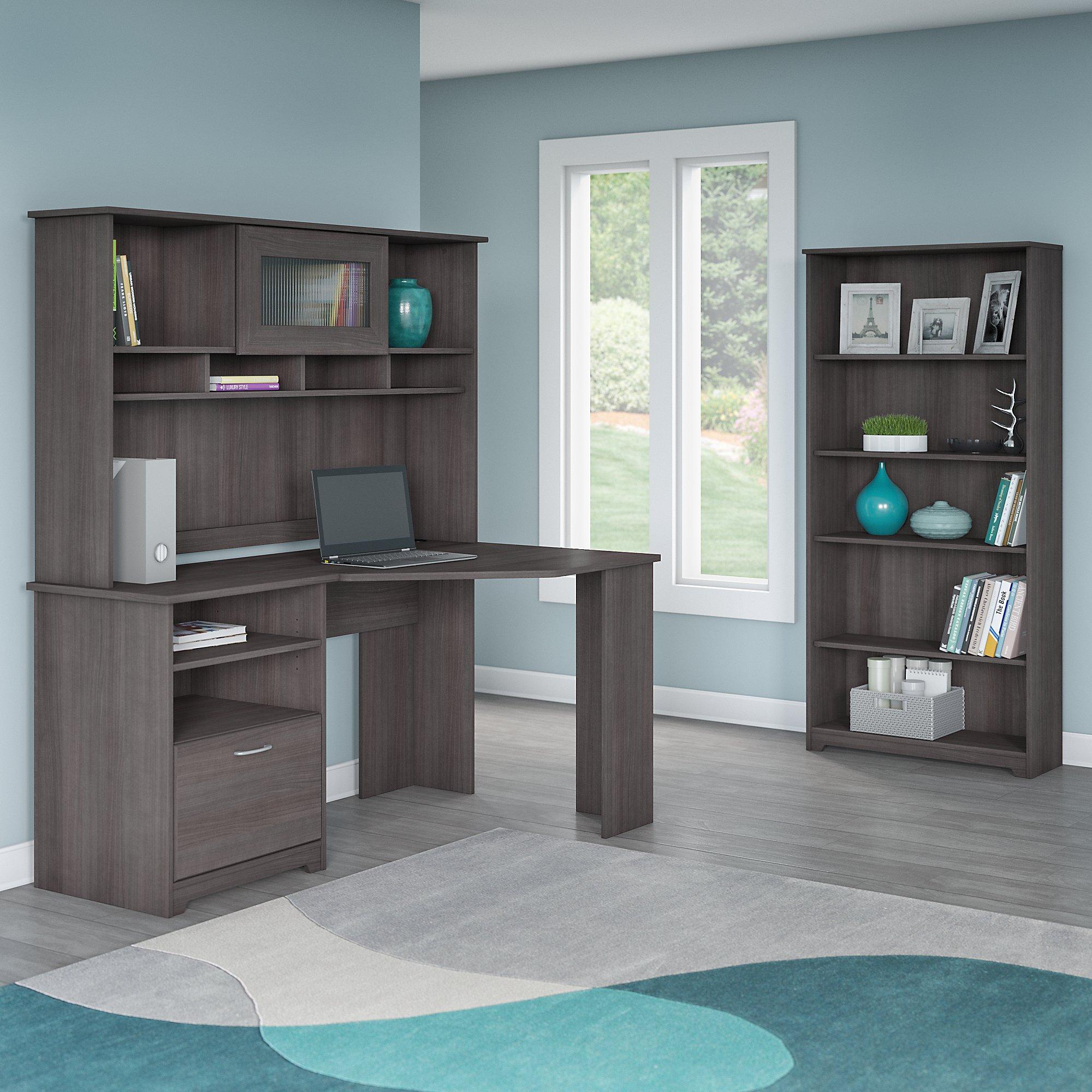 Amazon.com: Bush Furniture Cabot Corner Desk With Hutch