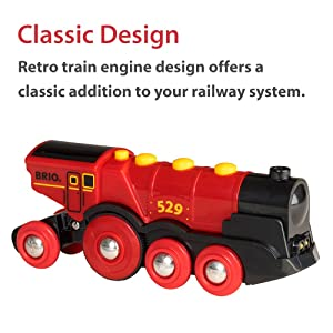 BRIO World - 33592 Mighty Red Action Locomotive