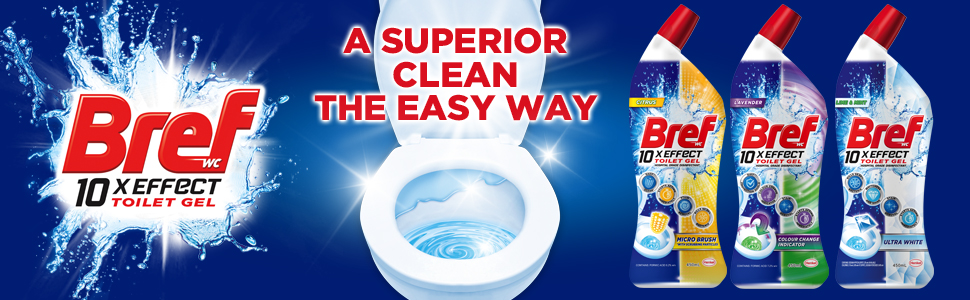 Bref; Toilet Cleaner; Liquid; Clean; Gel; Best; Remove limescale; Malodour removal; Shiny toilet