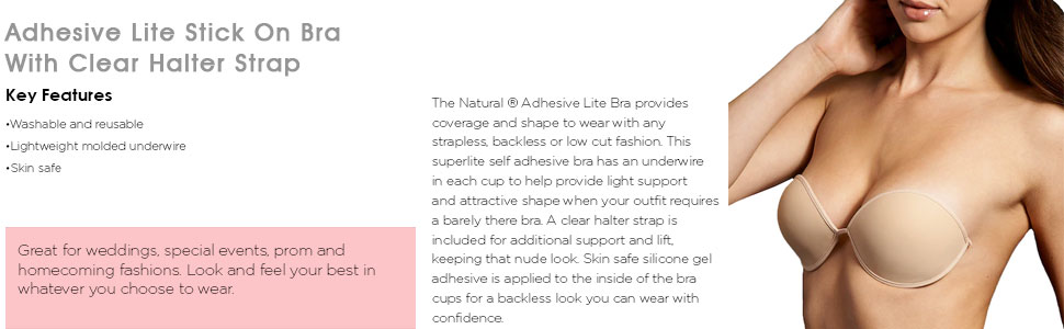 Amazon.com  The Natural Women s Adhesive Lite Bra 390cbb07d