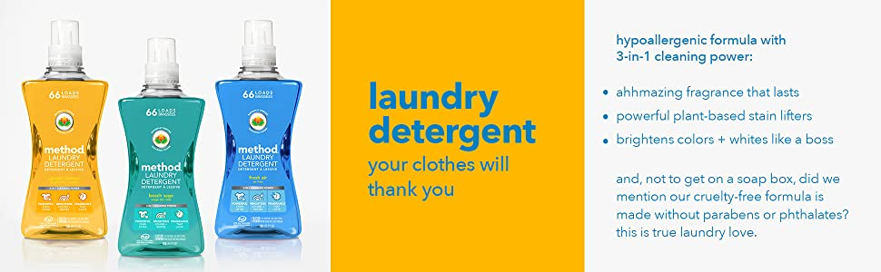 laundry detergent, liquid detergent