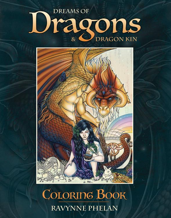 Enter World Renowned Artist Ravynne Phelans Magical Kingdom Of Dragons This Exquisite Coloring Book