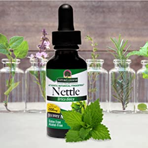 Nature's Answer, Nettle, Alcohol Free, concentrated, gluten free, vegan