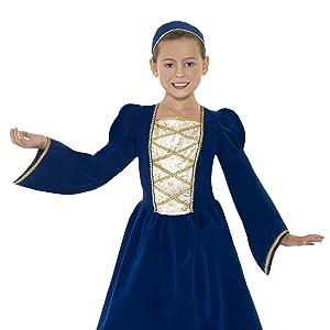 Smiffys-33714L Disfraz de Chica pobre Victoriana, Blanca, con ...