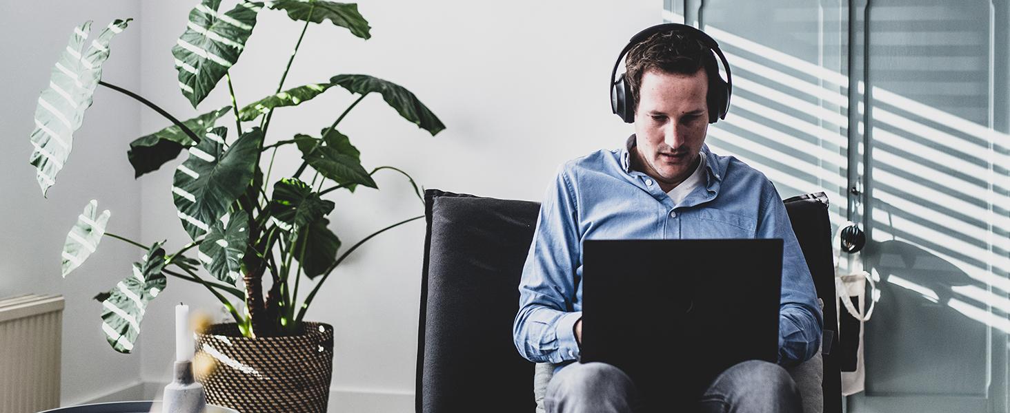 work headphones, home office supplies, office headphones, wfh headset, comfortable work headphones