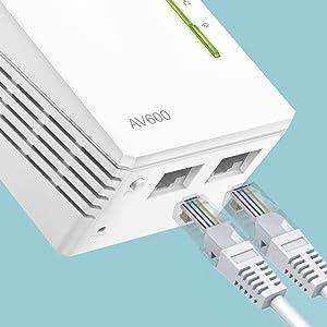 Due porte Ethernet per connessioni cablate