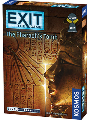 exit the game, escape room, the pharaoh's tomb, board game, party game, spiel des jahres