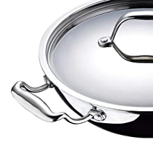 Bergner Kadai, triply Kadai, Stay cool handle