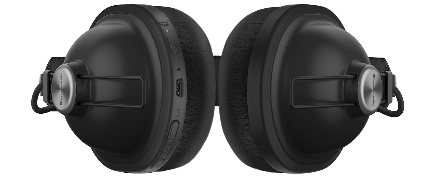 Panasonic RP-HTX80B Retro Vibes Wireless Over Ear Headphones - hotspots