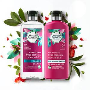 Herbal Essences Bio Renew: Champú con fresa blanca y menta dulce Pack de 6 x 400ml=2400ml