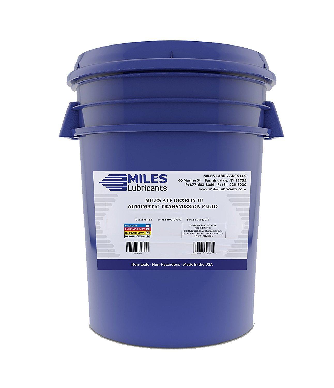 Miles ATF Automatic Transmission Fluid Dexron III 5 Gallon Pail