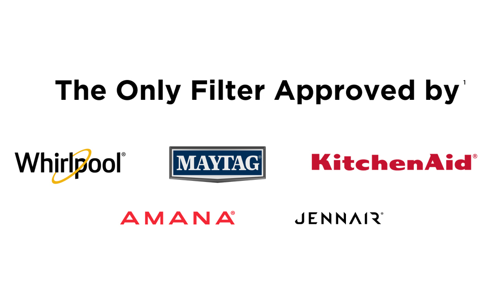 everydrop refrigerator water filters for Whilrpool, Maytag, Kitchenaid, Amana, JennAir