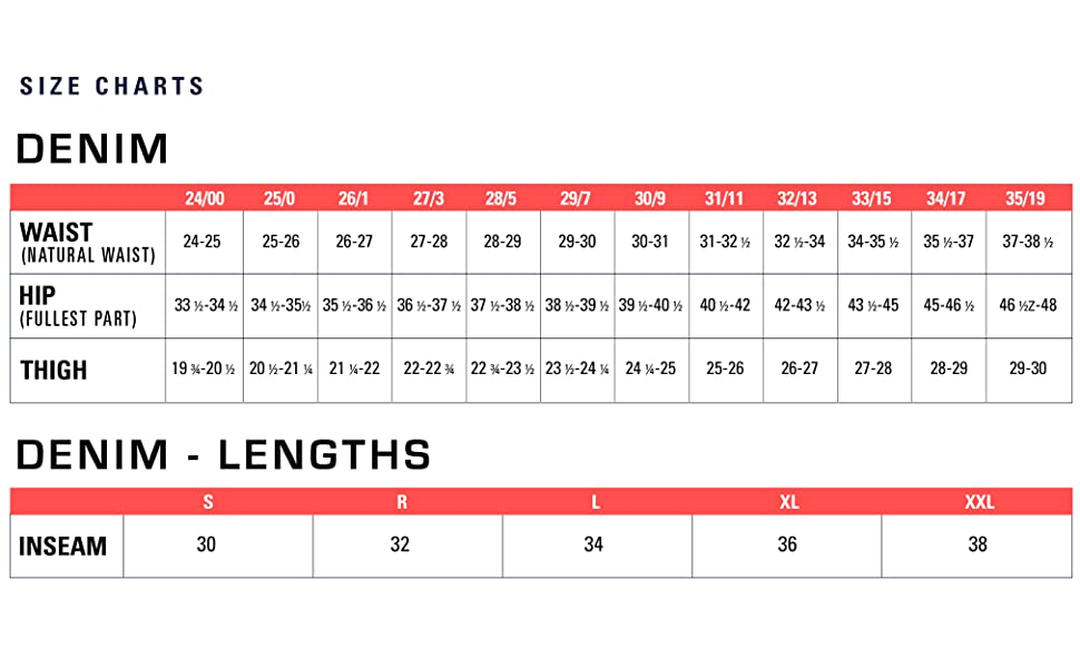CINCH Ladies Size Chart