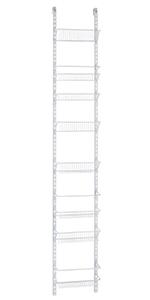 Amazon.com: ClosetMaid 1233 Adjustable 8-Tier Wall and Door ...